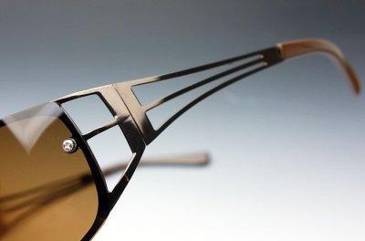 画像1: サングラス 偏光レンズ UVカット メンズ/おしゃれ デザイン メタル ブラウン/ポラライズド 偏向