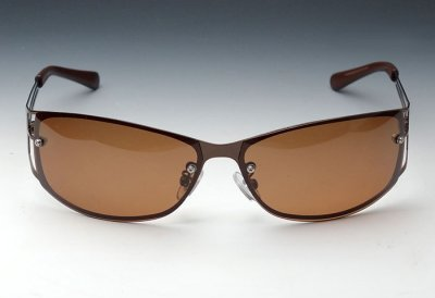 画像3: サングラス 偏光レンズ UVカット メンズ/おしゃれ デザイン メタル ブラウン/ポラライズド 偏向