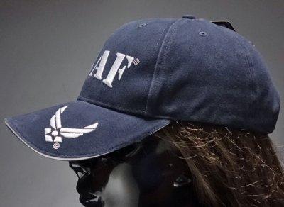 画像3: ミリタリー ベースボールキャップ 米空軍オフィシャル品 ROTHCO ブランド USAF ロゴ  刺繍/ネイビー 紺