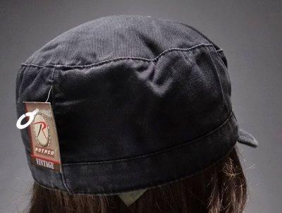 画像2: キャップ メンズ 帽子 ミリタリー JOLLY ROGER 海賊旗 ヴィンテージキャップ ROTHCO ロスコ ブランド /ブラック 黒