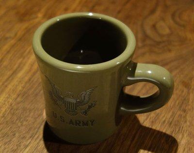 画像3: 日本製 マグカップ U.S.ARMY ミリタリー コップ 瀬戸物 / オリーブドラブ