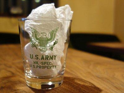 画像2: 日本製・「U.S.ARMY」ミリタリーグラス・グリーン
