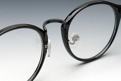 画像3: 送料無料!ビンテージな雰囲気!ブラックボストン型・伊達メガネ