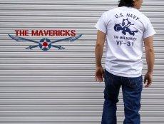 画像5: ミリタリー Tシャツ 米海軍 NAVY 黒猫 THE MAVERICKS 半袖 / ホワイト 白 (5)