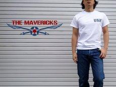 画像4: ミリタリー Tシャツ 米海軍 NAVY 黒猫 THE MAVERICKS 半袖 / ホワイト 白 (4)