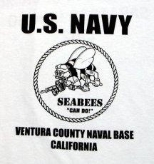 画像4: 米海軍 NAVY Seabees 蜂 モデル THE MAVERICKS ミリタリーTシャツ 半袖 / 白 ホワイト (4)