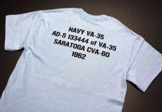 画像4: 米海軍 NAVY Seabees 蜂 モデル THE MAVERICKS ミリタリーTシャツ 半袖 / 水色 ライトブルー (4)