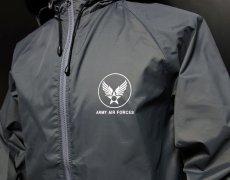 画像2: 在庫処分特価セール品!爆弾エアフォース ナイロンスタンドジャケット グレー (2)