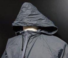 画像4: 在庫処分特価セール品!爆弾エアフォース ナイロンスタンドジャケット グレー (4)