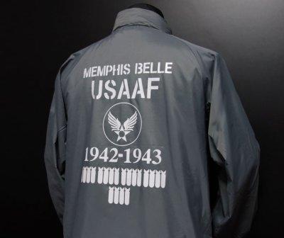 画像3: 在庫処分特価セール品!爆弾エアフォース ナイロンスタンドジャケット グレー