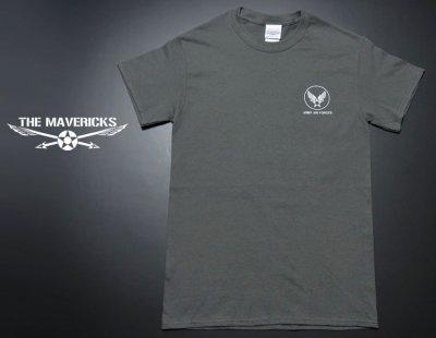 画像1: アウトレット!爆弾エアフォース・ミリタリーTシャツ・チャコールグレーS