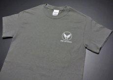画像5: アウトレット!爆弾エアフォース・ミリタリーTシャツ・チャコールグレーS (5)