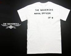画像2: 米海軍「USN錨マーク」モデル「THE MAVERICKS」ミリタリーTシャツ・白 (2)