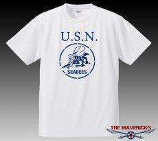 画像2: 水陸両用!ラッシュガードにも使えるドライTシャツ・米海軍「SeaBees」モデル (2)