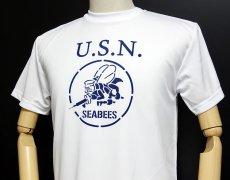 画像5: 水陸両用!ラッシュガードにも使えるドライTシャツ・米海軍「SeaBees」モデル (5)