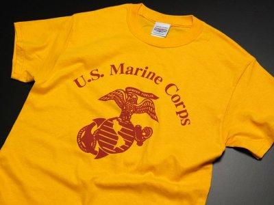 画像2: Tシャツ ミリタリー USマリン U.S.MARINE 米海兵隊 MAVERICKS ブランド / イエロー 黄