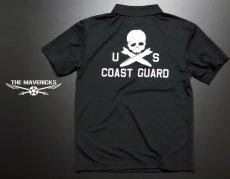 画像6: U.S.CoastGuard(アメリカ沿岸警備隊)スカル・DRYポロシャツ/ブラック (6)