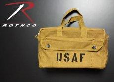 画像5: メカニック ツール バッグ メンズ USAF ロゴ 工具バッグ 工具箱 ROTHCO/ロスコ /コヨーテブラウン (5)