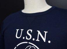 画像4: ミリタリー スウェット トレーナー メンズ 長袖 MAVEVICKS ブランド 8.4oz 裏パイル NAVY 米海軍 SeaBees ネイビー 紺 (4)