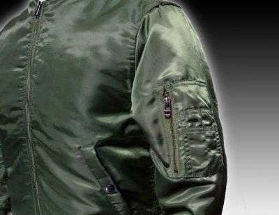 画像1: MA-1 フライトジャケット メンズ メンフィスベル 爆弾エアフォース モデル オリーブドラブ