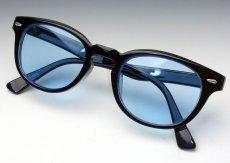 画像2: ボストン型 サングラス ジョニーデップ タイプ ブラック 黒 ブルー 青 (2)