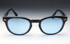 画像4: ボストン型 サングラス ジョニーデップ タイプ ブラック 黒 ブルー 青 (4)