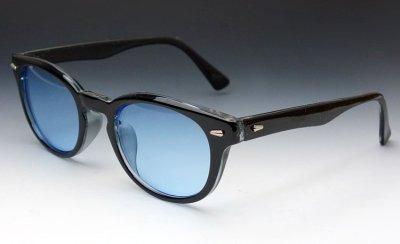 画像1: ボストン型 サングラス ジョニーデップ タイプ ブラック 黒 ブルー 青