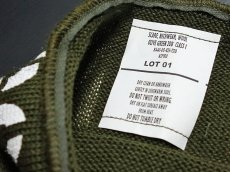 画像4: アメリカ製・米軍「USN」ウール・チューブマフラー/オリーブ (4)