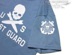 画像2: ミリタリーTシャツ 半袖 U.S.CoastGuard アメリカ沿岸警備隊 スカル / ブルーグレー (2)
