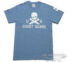 画像3: ミリタリーTシャツ 半袖 U.S.CoastGuard アメリカ沿岸警備隊 スカル / ブルーグレー (3)