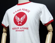 画像4: USAFエアフォース・「THE MAVERICKS」トリムTシャツ・白×赤 (4)