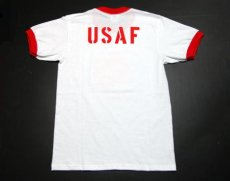 画像3: USAFエアフォース・「THE MAVERICKS」トリムTシャツ・白×赤 (3)