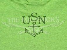 画像5: ミリタリー 半袖 Tシャツ US NAVY 米海軍 錨マーク MAVERICKS / ライムグリーン (5)