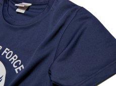 画像3: 水陸両用 ラッシュガード にも使える ドライ Tシャツ メンズ 半袖 USAF エアフォース / ネイビー 紺 (3)