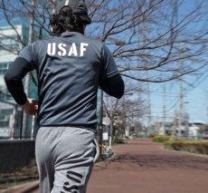 画像7: 水陸両用 ラッシュガード にも使える ドライ Tシャツ メンズ 半袖 USAF エアフォース / ガンメタ (7)