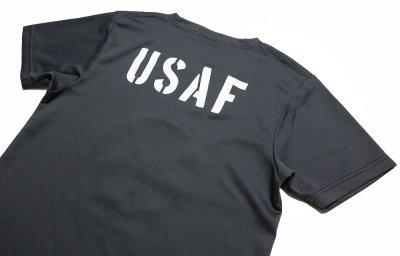 画像3: 水陸両用 ラッシュガード にも使える ドライ Tシャツ メンズ 半袖 USAF エアフォース / ガンメタ