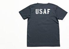 画像4: 水陸両用 ラッシュガード にも使える ドライ Tシャツ メンズ 半袖 USAF エアフォース / ガンメタ (4)