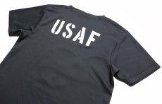 画像5: 水陸両用 ラッシュガード にも使える ドライ Tシャツ メンズ 半袖 USAF エアフォース / ガンメタ (5)