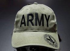 画像2: 帽子 メンズ ミリタリー キャップ ARMY ロゴ ROTHCO ブランド 米陸軍 ロスコ/オリーブ (2)