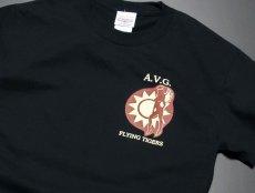 画像6: ミリタリー Tシャツ メンズ 半袖 AVG第三戦隊 THE MAVERICKS ブランド / ブラック 黒 (6)
