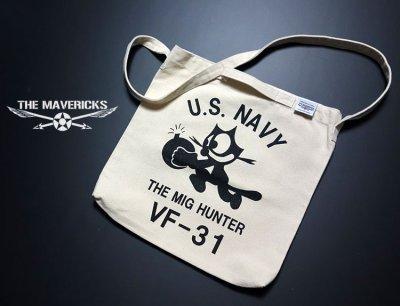 画像3: キャンバス地 2WAY ショルダー トート バッグ 米海軍NAVY モデル/ナチュラル 生成