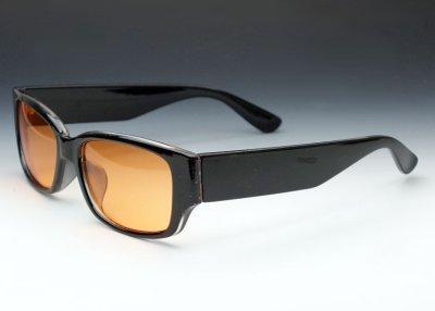 画像3: 存在感のあるブラック・ウェリントン型サングラス・オレンジレンズ