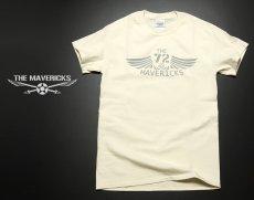 画像2: リトルジョー爆撃機モデル「THE MAVERICKS」ミリタリーTシャツ/ナチュラル 生成り (2)