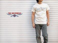 画像7: リトルジョー爆撃機モデル「THE MAVERICKS」ミリタリーTシャツ/ナチュラル 生成り (7)