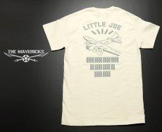 画像3: リトルジョー爆撃機モデル「THE MAVERICKS」ミリタリーTシャツ/ナチュラル 生成り (3)