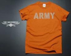 画像2: ミリタリーTシャツ メンズ 半袖 ARMY AAF米陸軍 フライングレディー/オレンジ (2)