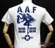 画像5: ミリタリーTシャツ メンズ 半袖 ARMY AAF米陸軍 フライングレディー/白 ホワイト (5)