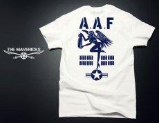 画像3: ミリタリーTシャツ メンズ 半袖 ARMY AAF米陸軍 フライングレディー/白 ホワイト (3)