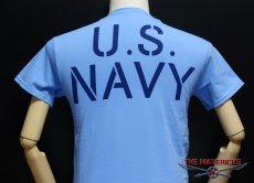 画像5: ミリタリーTシャツ メンズ 半袖 サブマリン NAVY 米海軍/ブルー (5)