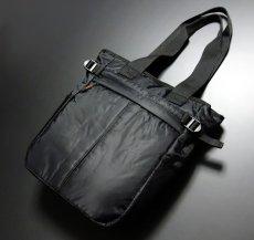 画像2: トートバッグ メンズ 大容量 大きめ ミリタリー ナイロン MA-1 / ブラック (2)